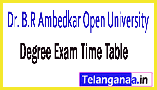 BRAOU B.Ed 1st Year Annual Exam Time Table 2019 Dr. B.R Ambedkar Open University