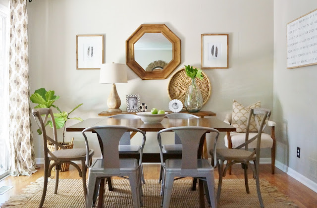 neutral natural dining room
