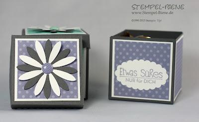 Kreativ & selbst gemacht, Bigz Originals Blüten, Geschenkverpackung, Klammer mit Designerdruck, Blauregegen