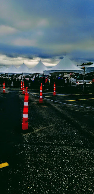 Graham Sedam, blog, thoughts, life, interests, writing, construction barrier cones channelized, parking lot, tents, music production