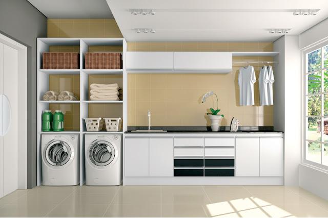decoracao de pequenos ambientes residenciais : decoracao de pequenos ambientes residenciais:Construindo Minha Casa Clean: Lavanderias Lindas! Modernas, Decoradas