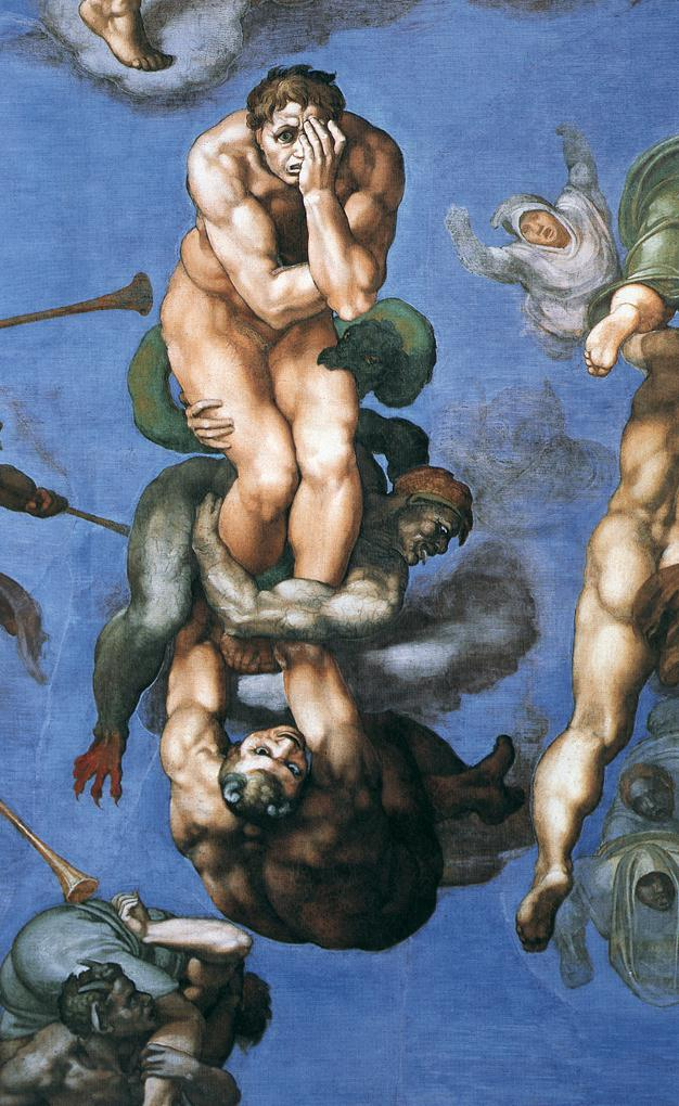 The Last Judgement by Michelangelo di Lodovico Buonarroti Simoni