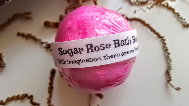 sugar rose bath bomb