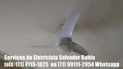Instalação de ventilador de teto Arno Alivio em Salvador-Ba-71-4113-1825