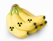 Los plátanos son radioactivos
