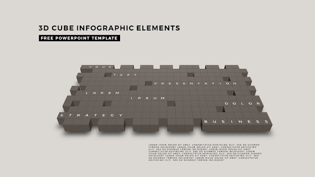 3D Cube Infographic Elements for Free PowerPoint Template Design Slide 15