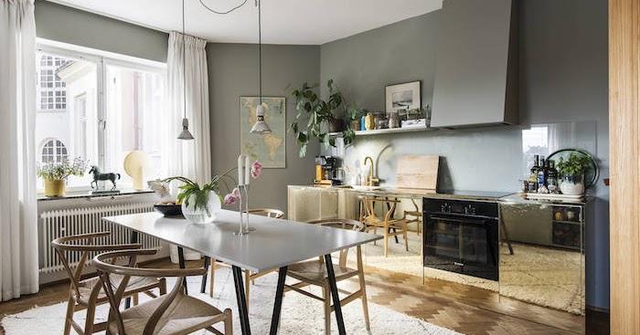 Una pizca de hogar paredes de la cocina con azulejos o sin ellos - Paredes de cocina sin azulejos ...