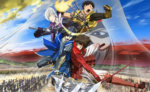 Sengoku Basara - Daftar Anime Martial Arts Terbaik dan Terpopuler