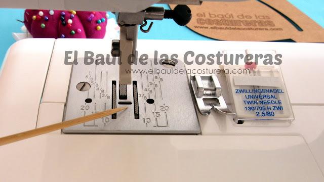 que hace falta para coser con aguja doble en máquina de coser cassera