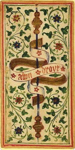 """""""A bon droyt"""", lema de la familia Visconti"""