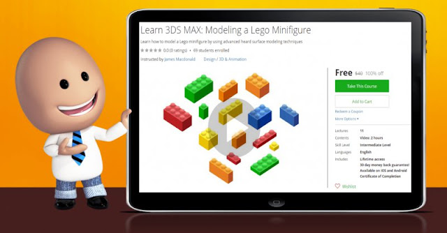[100% Off] Learn 3DS MAX: Modeling a Lego Minifigure| Worth 40$