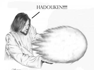 Resultado de imagem para jesus soltando hadouken