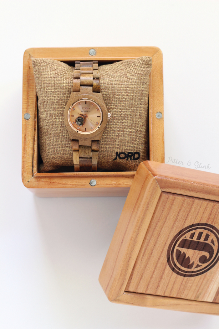 Cora Koa Wood Wrist Watch JORD Unique Box