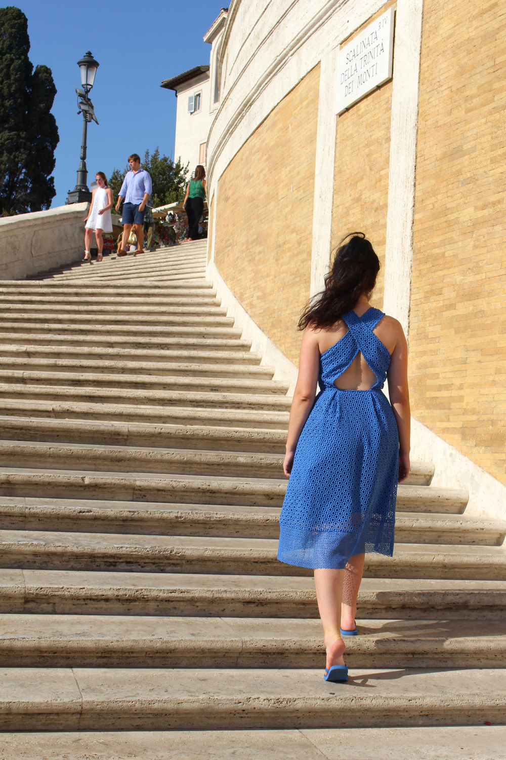 Walking up the Spanish Steps in Rome - style & travel blog