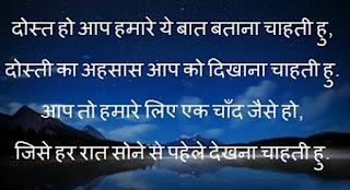 Friendship Good Night Shayari in Hindi