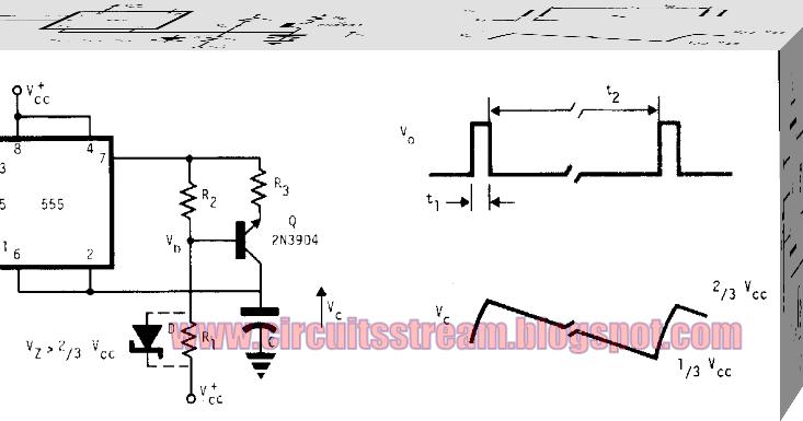 Build A 555 Astable Oscillator Circuit Diagram