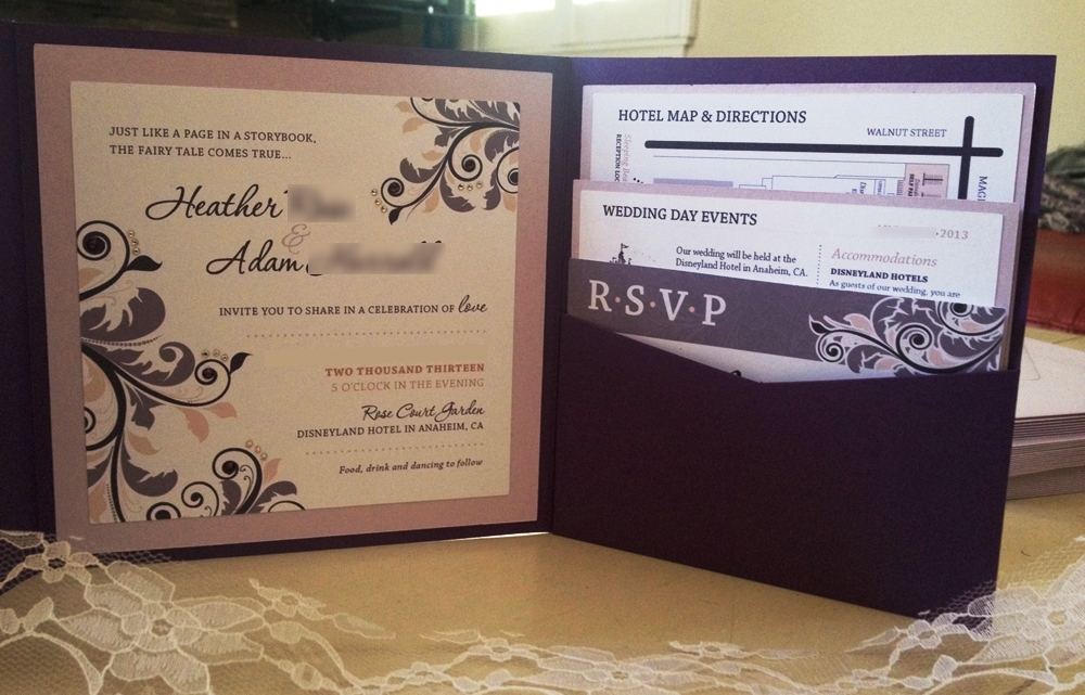 DIY Fairy Tale Wedding Invitations