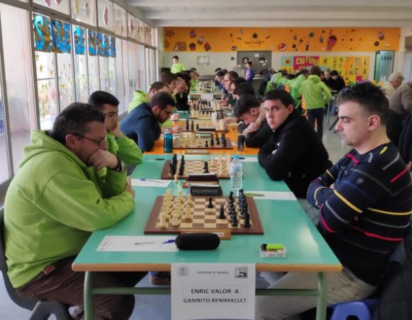 DH R.2, (+6 partidas) Enric Valor 2'5 - 5'5 Gambito Benimaclet (Crónica por MF José Remolar)