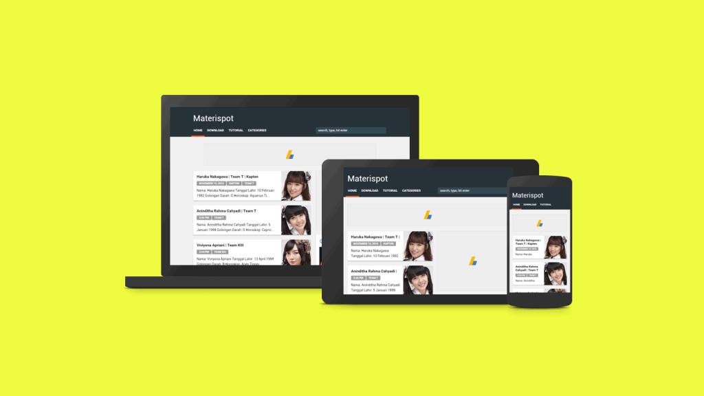 Material Design Blogger Template Rifki.id