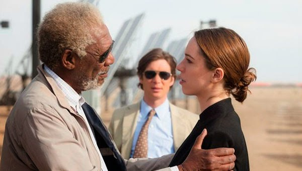 "Morgan Freeman, Rebecca Hall y Cillian Murphy en ""Trasncendence"""