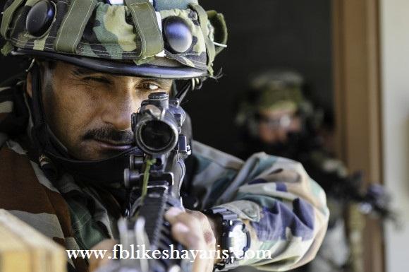 Desh Bhakti Shayari Indian Soldiers 2017 - Indian Army Sniper Man Shayari