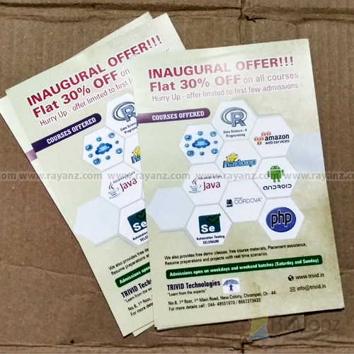 pamphlets multi color printing in chennai