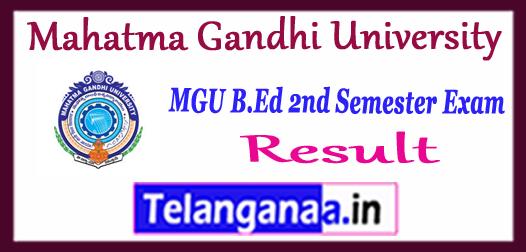 Mahatma Gandhi University MGU B.Ed 2nd Semester Revaluation Results 2018