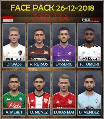 PES 2017 Facepack 26-12-2018 by Mo Ha