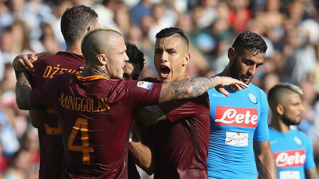 [Video] Cuplikan Gol Napoli 1-3 AS Roma (Liga Italia)