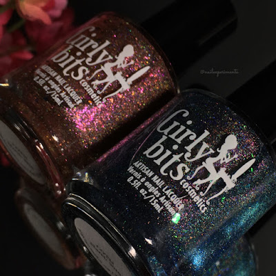 Girly Bits March 2018 COTM Colour of the month duo swatches I shift you not and 29 & Counting