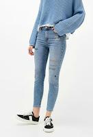 Jean skinny brodé