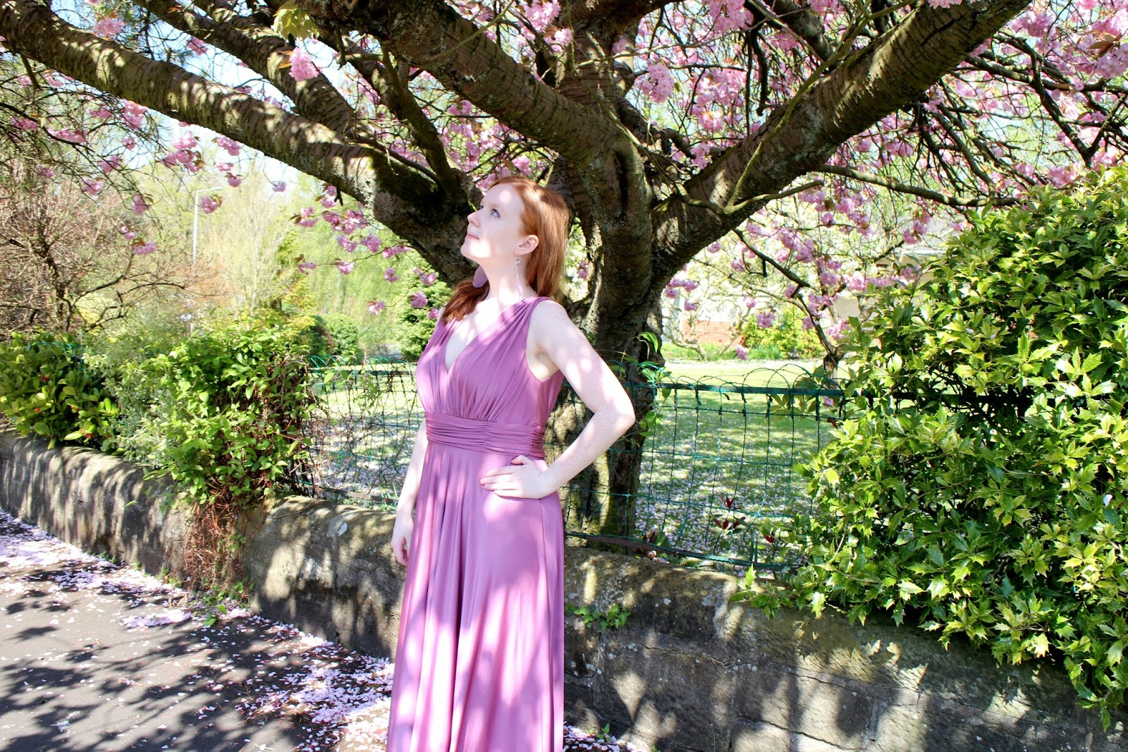 BIBA Deep V Maxi Dress Review Blogger
