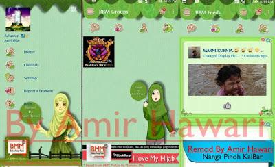 BBM Muslimah Green Edition v2.12.0.9