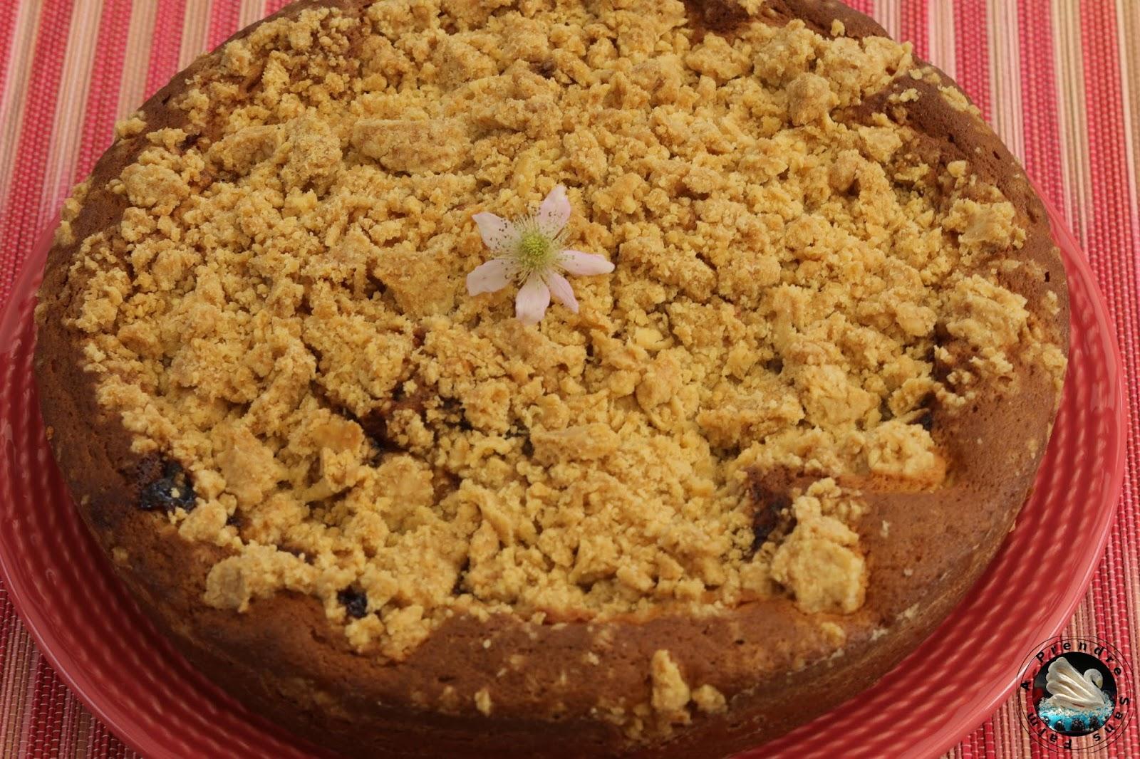 Gâteau crumble aux mûres