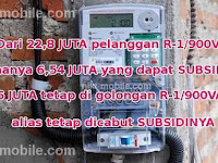 2,44 Juta Pelanggan 900 VA Mendapatkan Kembali Subsidi Listrik Yang Sempat Dicabut