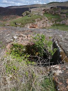 Silo excavado y canalización