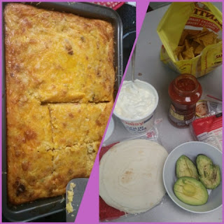 Mexican Breakfast Egg Bake collage 3