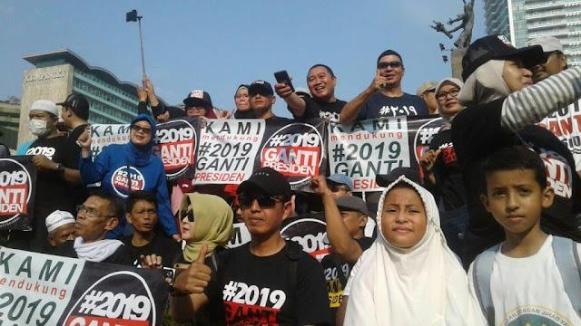 Gerindra:Pakai Kaos #2019GantiPresiden Bukan Makar