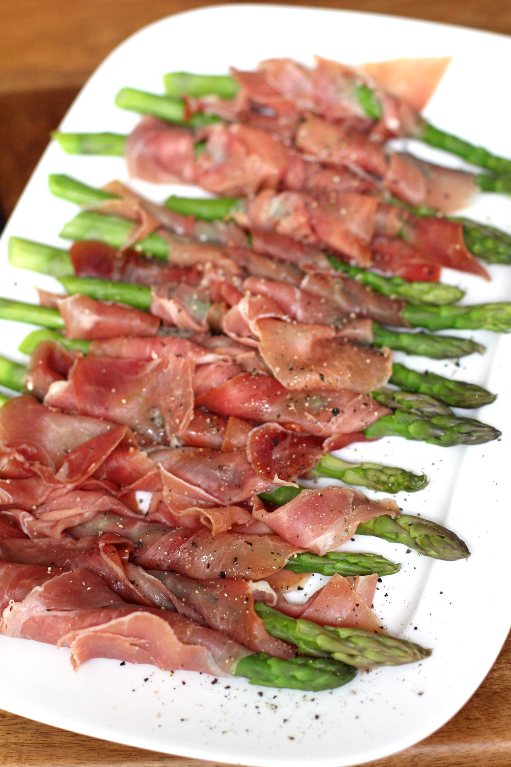 British asparagus wrapped in Parma ham - UK lifestyle blog