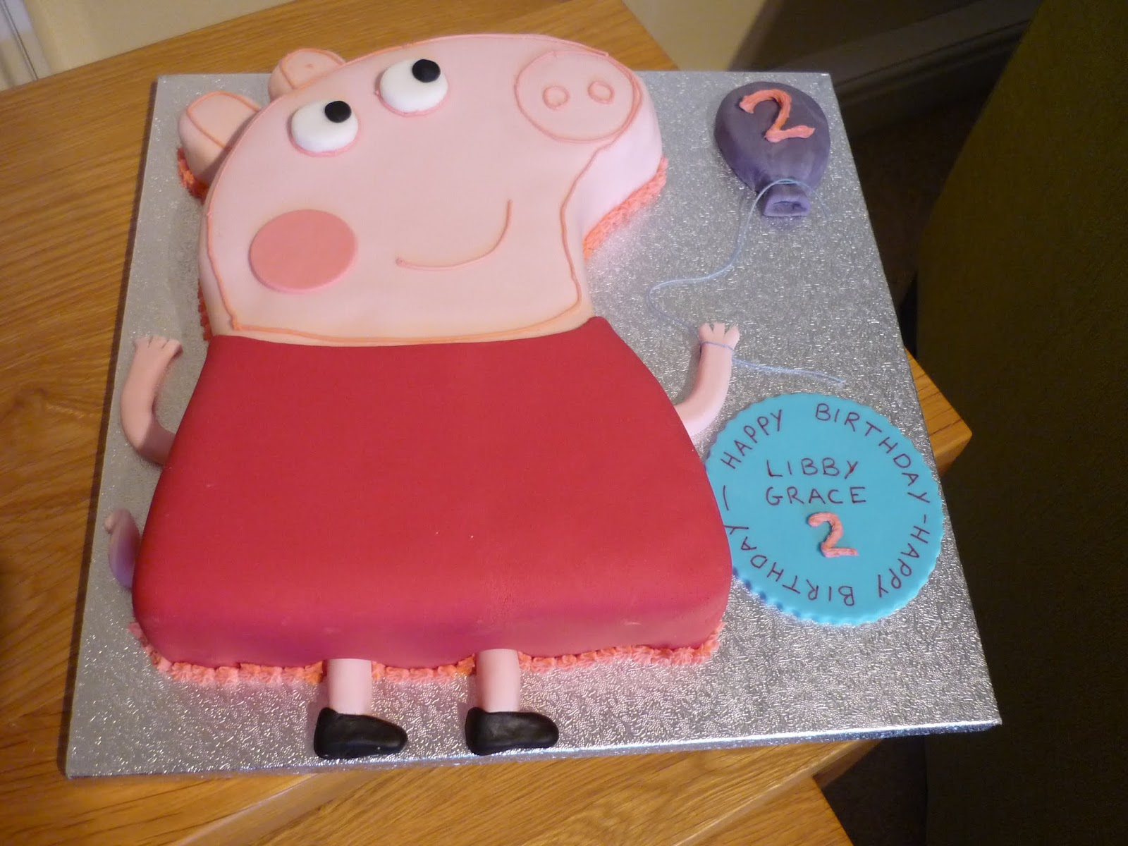 Peppa pig cake template auto design tech for Peppa pig cake template free