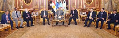 اللجنة الوطنية المعنية بليبيا تلتقى وفد المجلس الأعلى للدولة الليبية