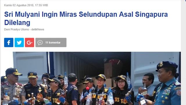 Sri Mulyani Ingin Lelang Miras Ilegal! Ini Solusi Defisit Anggaran Menteri Terbaik Sedunia?