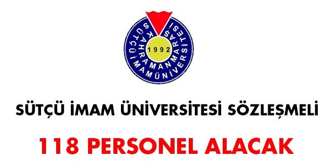 Sütçü İmam Üniversitesi 118 sözleşmeli personel alım ilanı (Son Başvuru:14 Mayıs 2018)