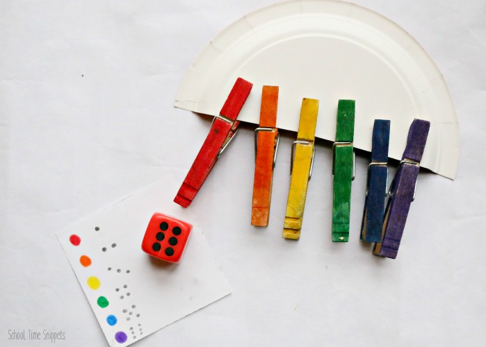 rainbow preschool theme numbers game