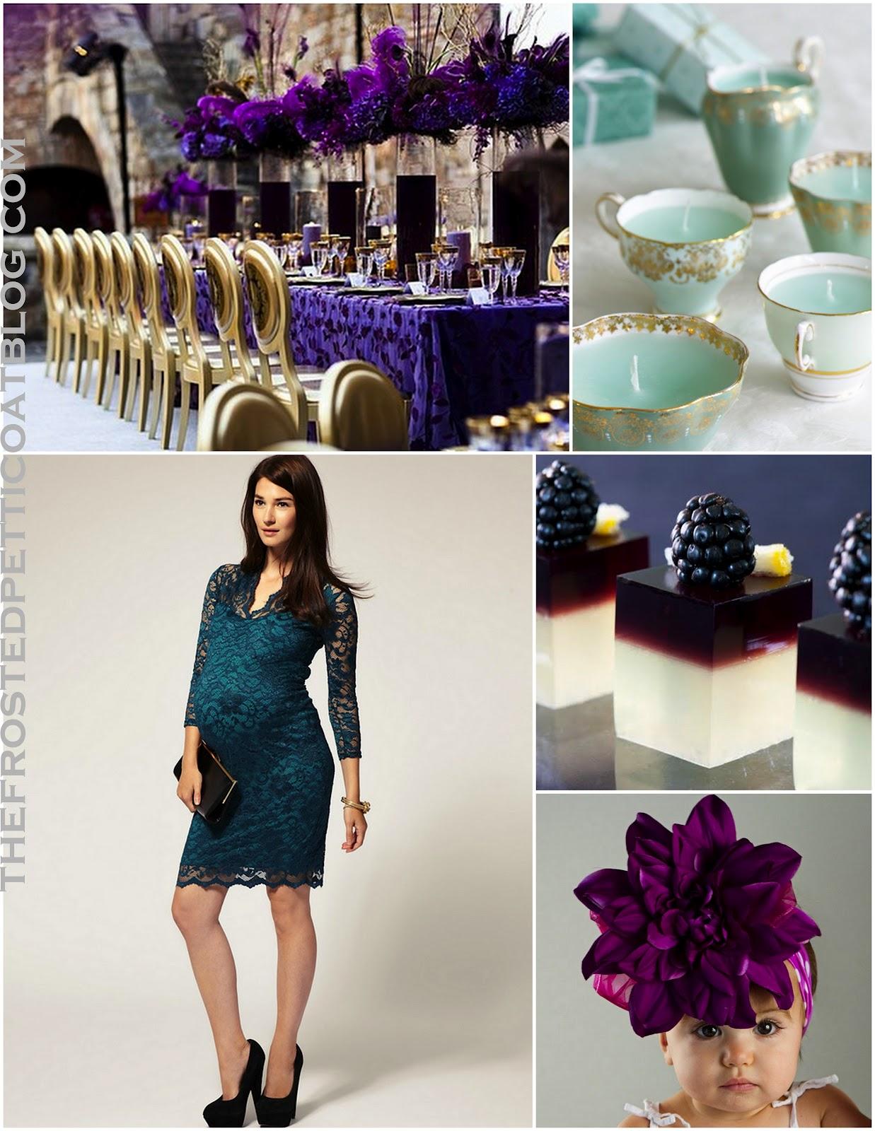... Kate Middletonu0027s Baby Showeru2026 Blue+grey+peacock+blue+mint+silver+baby +teal+