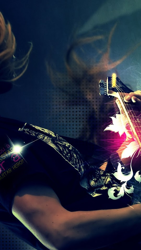 Playing Guitar   Galaxy Note HD Wallpaper
