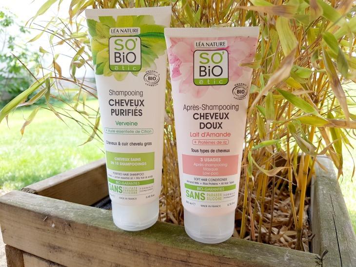 so bio etic test shampoing et apres shampoing