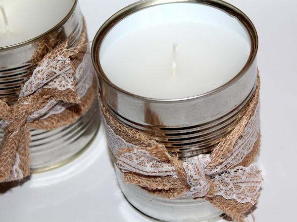 DIY Citronella Kerzen in der Konservendose Mückenschutz