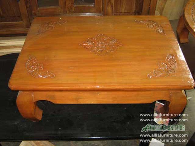 Meja lesehan kayu jati oshin kotak  Allia Furniture