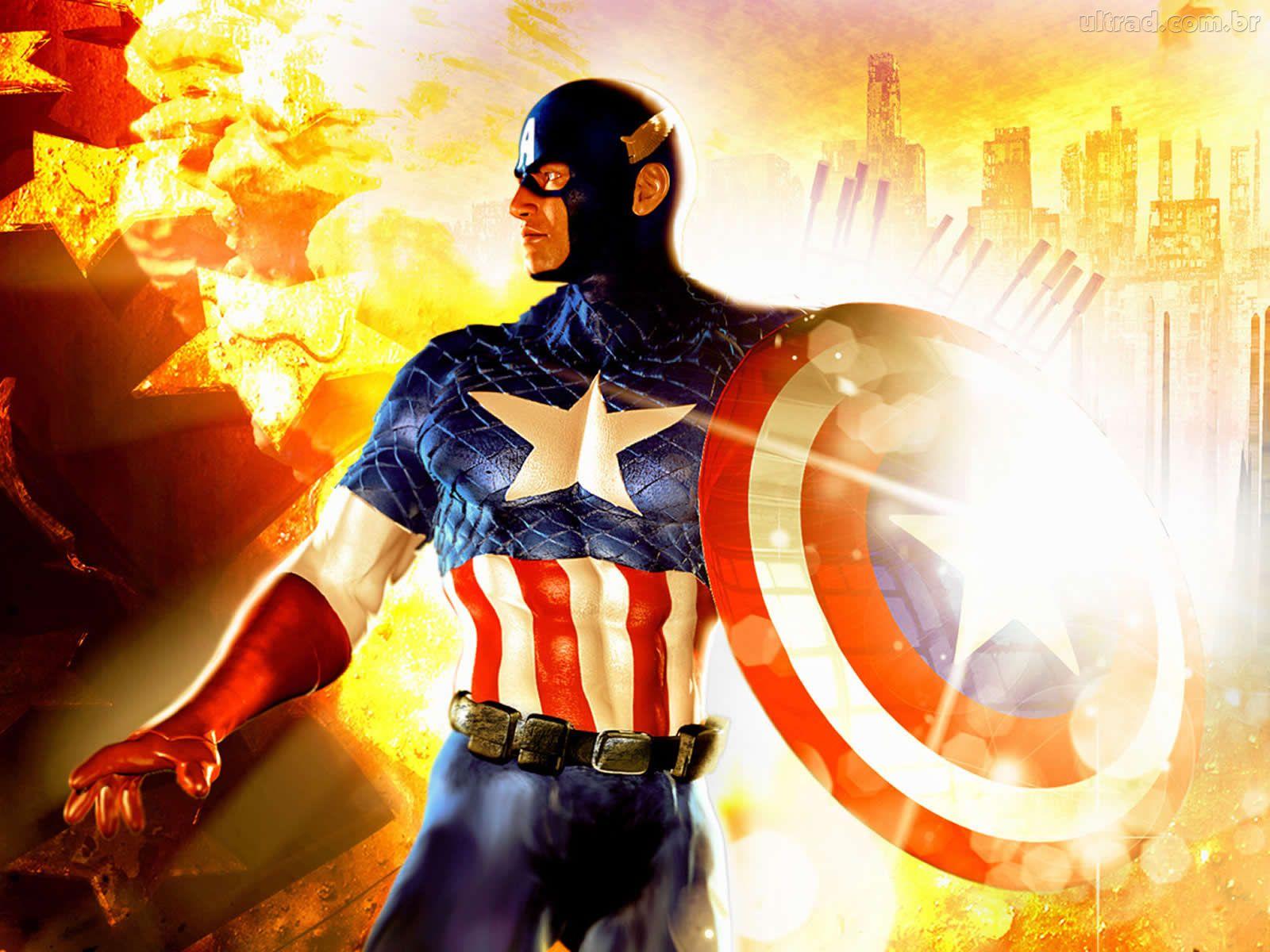 Papel De Parede Do Capitao America: PZ C: Capitão America